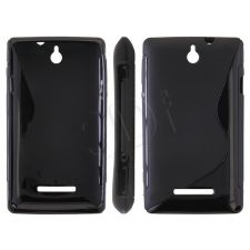 BACK COVER ''S-CASE'' XPERIA E C1605 BLACK-0