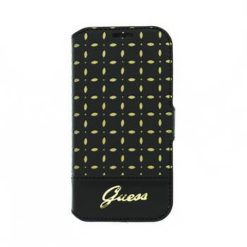 GUFLBKS4MPEB Guess Gianina Book Leather Case Black for Samsung i9195 Galaxy S4mini-0