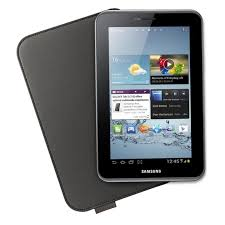 Samsung - Protective cover for web tablet - leather - dark brown - for Samsung Galaxy Tab 2 (7.0), Galaxy Tab 2 (7.0) WiFi , EFC-1G5LD-0