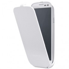 ANYMODE ΔΕΡΜΑΤΙΝΗ ΘΗΚΗ Samsung Original Flip Case for i9300 White (EU Blister) etuismgs3w-0