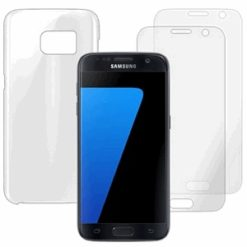 Almus Designed for Samsung Clear Cover + Display Protector for Samsung Galaxy S7 -0