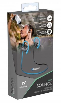 Cellularline Bluetooth Headset Stereo Bounce Sport (Blue) - BTBOUNCEU-27305