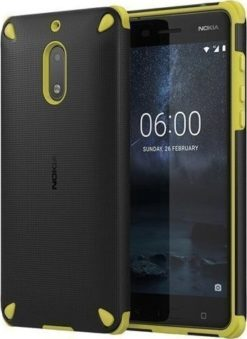Nokia Rugged Impact Case για το Nokia 6 Lemon Black - CC-501-0