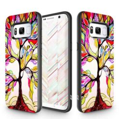 ZIZO SLEEK HYBRID Design Cover w/ Dual Layered Protection in ZV Blister Packaging For Samsung Galaxy S8 Colorful Tree 1SKHBD-SAMGS8-CT-0