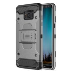 Zizo Tough Armor Style 2 Case w/ Holster in ZV Blister Packaging - Gray/Black For Samsung Galaxy S8 1TGAM-SAMGS8-GRBK-0