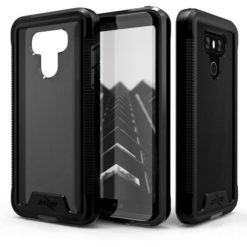 Zizo ION Single Layered Hybrid Cover w/ 9H Tempered Glass Screen Protector (Retail Packaging) - Black/Smoke - For LG G6 - 1IONC-LGG6-BKSM-0