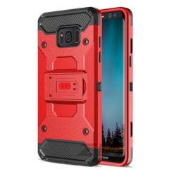 Zizo Tough Armor Style 2 Case w/ Holster in ZV Blister Packaging - Red/Black For Samsung Galaxy S8 1TGAM-SAMGS8-RDBK-0