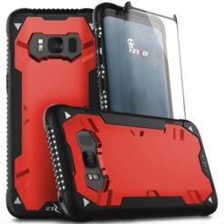 Zizo Proton Armor case with glass screen 9H Samsung Galaxy S8 (Black / Solid Red) 1PRN2-SAMGS8-BKRD-0