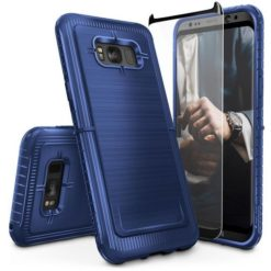 ZIZO Dynite Case by CLICK CASE for Samsung Galaxy S8 Plus - Military Grade Drop Tested, Featuring Anti-Slip Grip and Full 9H Clear Tempered Glass Screen Protector.Dark Blue. 1DYN-SAMGS8PLUS-DBL-0