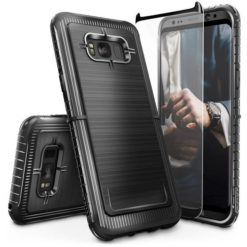 ZIZO Dynite Case by CLICK CASE for Samsung Galaxy S8 Plus - Military Grade Drop Tested, Featuring Anti-Slip Grip and Full 9H Clear Tempered Glass Screen Protector.Black. 1DYN-SAMGS8PLUS-BLK-0