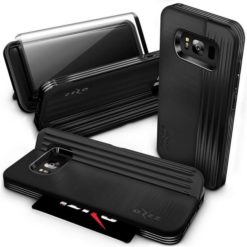 Zizo Retro Wallet Case with Protective Magnetic Closure and Built-In Kickstand - (Black / Black) For Samsung Galaxy S8 Plus - 1RET-SAMGS8PLUS-BKBK-0