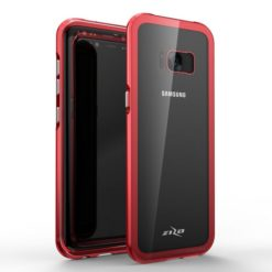 Zizo ATOM Case For Samsung Galaxy S8 Plus w/ 9h Curved Full Glass Screen Protector and Airframe Grade Aluminum - Red.1ATOM-SAMGS8PLUS-RD-0