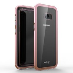 Zizo ATOM Case For Samsung Galaxy S8 Plus w/ 9h Curved Full Glass Screen Protector and Airframe Grade Aluminum - Rose Gold.1ATOM-SAMGS8PLUS-RGD-0
