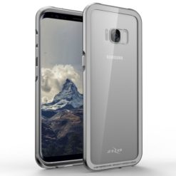 Zizo ATOM Case For Samsung Galaxy S8 Plus w/ 9h Curved Full Glass Screen Protector and Airframe Grade Aluminum - Silver.1ATOM-SAMGS8PLUS-SL-0