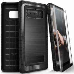 ZIZO Dynite Case by CLICK CASE for Samsung Galaxy Note 8 -Military Grade Drop Tested, Featuring Anti-Slip Grip and Full 9H Clear Tempered Glass Screen Protector.BLACK. 1DYN-SAMGN8-BLK-0