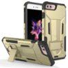 ZIZO Hybrid Transformer Cover w/ Kickstand and UV Coated PC/TPU Layers - Gold/Black For iPhone 7/8 Plus 1HBTFM-IPH7PLUS-GDBK-0