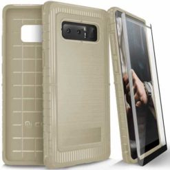ZIZO Dynite Case by CLICK CASE for Samsung Galaxy Note 8 -Military Grade Drop Tested, Featuring Anti-Slip Grip and Full 9H Clear Tempered Glass Screen Protector.Beige. 1DYN-SAMGN8-BE-0
