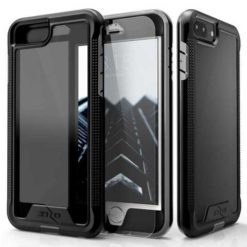 Zizo ION Single Layered Hybrid Cover w/ 9H Tempered Glass Screen Protector (Retail Packaging) - Black/Smoke For iPhone 7/8 Plus - 1IONC-IPH7PLUSN-BKSM-0