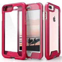Zizo ION Single Layered Hybrid Cover w/ 9H Tempered Glass Screen Protector (Retail Packaging) - Pink/Clear - For iPhone 7/8 Plus - 1IONC-IPH7PLUSN-PKCL-0