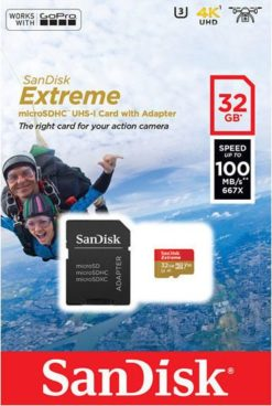 Sandisk Extreme MicroSD 32GB Action Cam 100MB/s SDSQXAF-032G-GN6AA-0