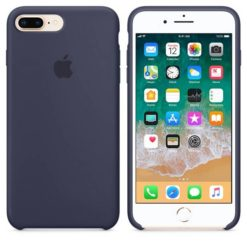 Apple Silicone Cover Midnight Blue για το iPhone 7/8 Plus MMQU2ZM/A (EU Blister)-33462