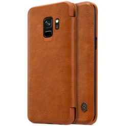 Nillkin Qin Book Case για το Samsung Galaxy S9 - Brown-0