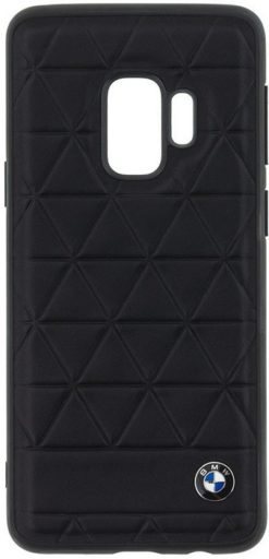 BMW Hexagon Black Leather Hard Case για το Samsung Galaxy S9 - BMHCS9HEXBK (1)