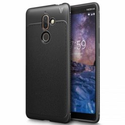 1) TECH-PROTECT TPULEATHER CASE για το Nokia 7 Plus - Μαύρο