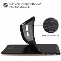 2) TECH-PROTECT TPULEATHER CASE για το Nokia 7 Plus - Μαύρο