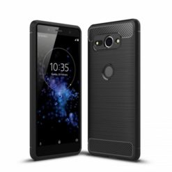 1) TECH-PROTECT TPU CARBON Sony Xperia XZ2 Compact - Μαύρο