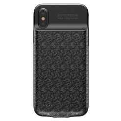 Baseus Plaid Backpack Cover with Built-in Power Bank 3500 mAh για το iPhone X black - ACAPIPHX-BJ01