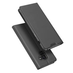 DUX DUCIS Skin Pro Series Flip Leather Wallet για το Samsung Galaxy A8 2018 (Γκρι)