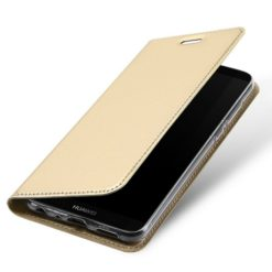 DUX DUCIS Skin Pro Series Flip Leather Wallet για το Huawei P Smart (Χρυσό)