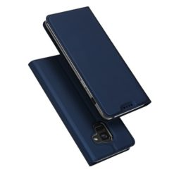 DUX DUCIS Skin Pro Series Flip Leather Wallet για το Samsung Galaxy A8 2018 (Μπλε)