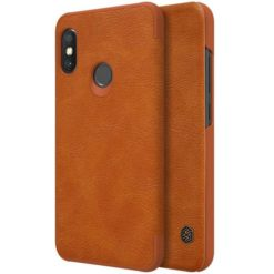 Nillkin Qin Book Case για το Xiaomi Mi A2 Lite - Brown