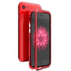 Luphie Magnetic Glass Hard Case για το iPhone 7/8 - Red