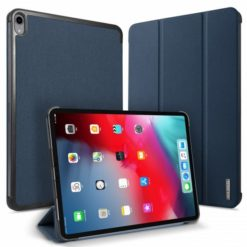 "DUX DUCIS Domo Series Flip Leather Wallet για το Apple iPad Pro 12.9"" 2018 (Μπλε)-0"