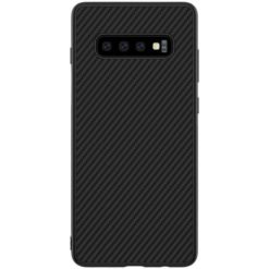 Nillkin Synthetic Fiber Protective Hard Case Carbon Black για το Samsung Galaxy S10