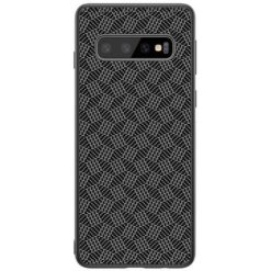 Nillkin Synthetic Fiber Protective Hard Case Carbon Plaid Black για το Samsung Galaxy S10