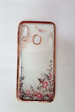 Flexible Gel Back Case Flower θήκη για το SAMSUNG GALAXY A20e pink-0