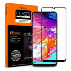 Spigen GLAS.tR FC Full Face Tempered Glass για το Galaxy A70 Μαύρο (620GL26384)-0