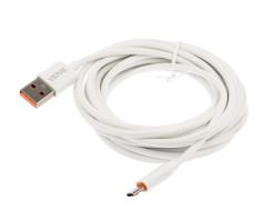 Kαλώδιο USB Vidvie MICRO USB CB443-3 3 Μέτρα Λευκό-0