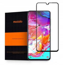 Mocolo Tempered Glass + Full Glue για το GALAXY A70 Μαύρο-0
